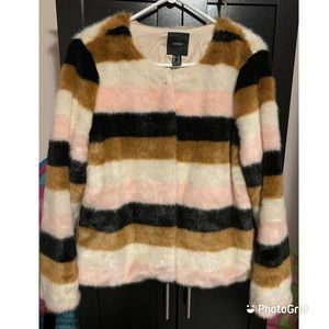 Forever 21 colour block wool jacket